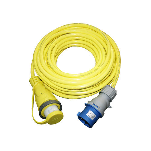 32A Heavy-Duty Cordset - 15M (Yellow) Image 1