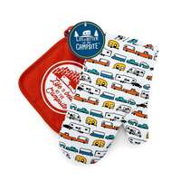 ?LIBATC, RV Multi Color Oven Mitt With Red Pot Holder