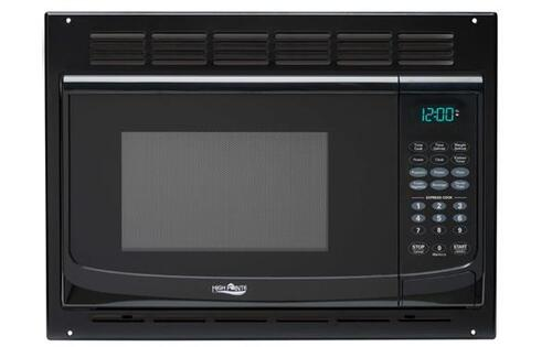 High Pointe 1.0 Cu. Ft. Black Microwave Oven with Turntable and Instant Start Image 1