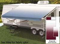 17' Universal Awning Replacement Fabric - Burgundy with Weatherguard