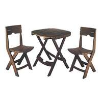 Quik-Fold Cafe Set, Earth Brown Image 1