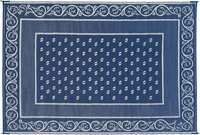 Faulkner 48701 Vineyard 9 by 12-Feet Blue Multi-Purpose Mat Image 1