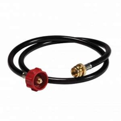 LP ADAPTER HOSE - CONNECT TO 20LB TANK - 4FT - BLACK