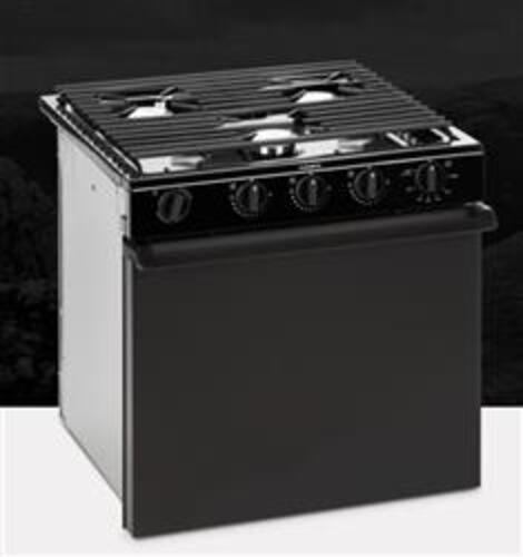Dometic 21' Black 3-Burner Oven Range Stove Image 1
