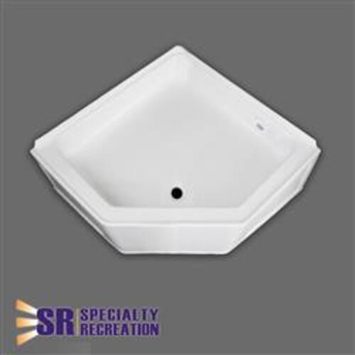 Square Shower Pan With Angled Front