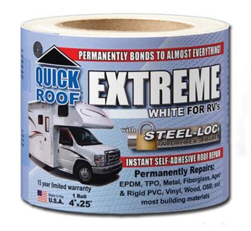 "?Quick Roof Extreme For RV's 4"" x 25' - B-UBE425"