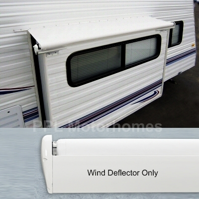 rv awnings, screen rooms, and parts and accessories ppl motor homes slide in truck camper wiring 73in fabric sideout kover iii white with wind