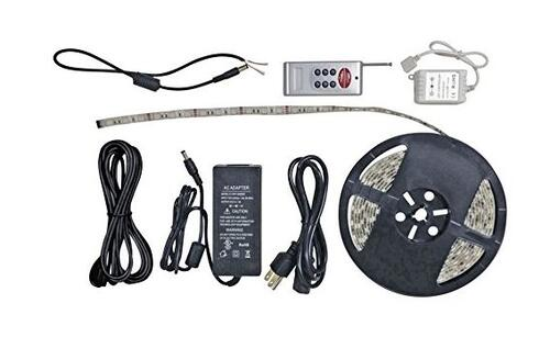 LED Strip Light Kit, RF Remote, 16 Ft, RGB Image 1