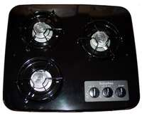 3 burner suburban cooktop black