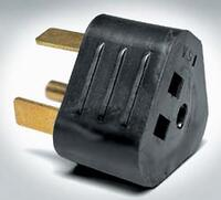 RV Electrical Adapter Plug - 15A Female to 30A Male