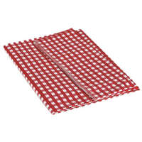 03.0742 - Tablecloth Red/Wht 52x84 - Image 1