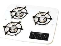3 burner suburban cooktop white