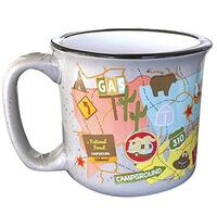 Camp Casual Travel Map Mug 925-CC004TM