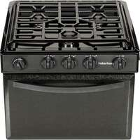 "Suburban 3615A 22"" RV Gas Range with Black Textured Steel Door Image 1"