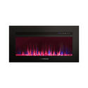 "30"" Built-In Electric Fireplace with Crystal Platform - Black Image 2"