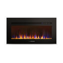 "30"" Built-In Electric Fireplace with Crystal Platform - Black Image 3"