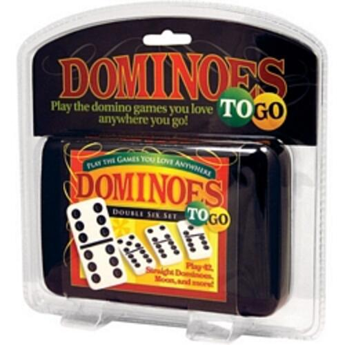 Dominoes To Go - Double 6 In Zippered Case