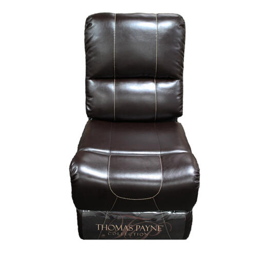 Armless Recliner - Heritage Series (Jaleco Chocolate) Image 1