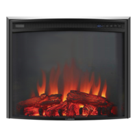 26? Curve Glass Electric Fireplace Image 1