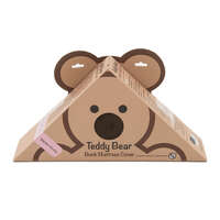 "28"" x 74"" x 4"" - Chocolate Teddy Bear Bunk Mat Cover Image 1"