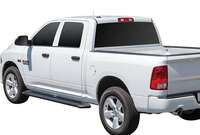 Westin 27-6155 6-Inch Sure Grip Cab Length Black Running Boards with Black Trim Image 1