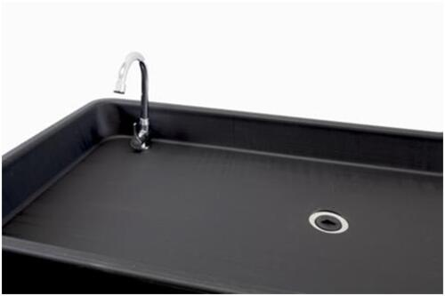 "Patrick Industries PRT-2448FLDBLKFAU Camp and Chill Faucet Table - 24"" X 48"" Image 1"