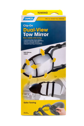 Towing Mirror Clamp-On  - Double Mirror Image 1