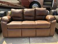 "80"" Trifold Sleeper Sofa Raised Floor 30"" Notch in Ontario Saddle PR1801-014"