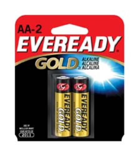 Alkaline Batteries, AA, 2/card