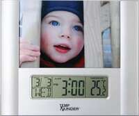 Clock/Thermometer W/Photo Frame