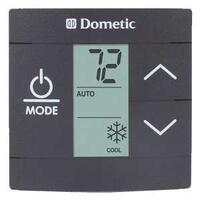 DUOTHERM SINGLE ZONE LCD THERMOSTAT- COOL/FURNACE/HEAT STRIP - BLACK