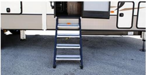 "?Step Above With Strut Assist Weightless RV Steps - 4 Step, 26"" Door"