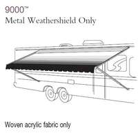839CM24.000P - 9000 Manual Awning w/Weather Shield, Forest Green Shadow, 24 ft, with Silver Weathershield - Image 1