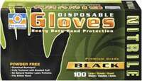 Black Nitrile Gloves X-La