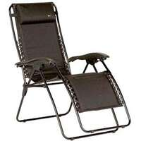 Faulkner 48973 Malibu Style Black Padded X-Large Recliner with Plastic Armrests