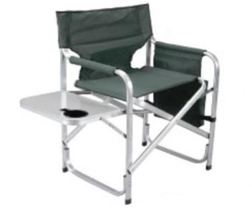 Faulkner 48870 Green Director's Chair with Pocket Pouch & Folding Tray