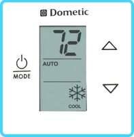 DUOTHERM SINGLE ZONE LCD THERMOSTAT- COOL/FURNACE/HEAT STRIP - WHITE