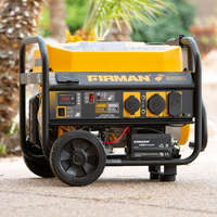 4550/3650 Watt Remote Start Gas Portable Generator CARB Certified With Wheel Kit Image 1