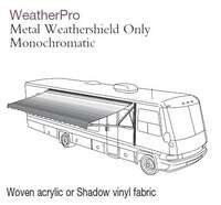 805NW17.000B - WeatherPro Awning w/Weather Shield, Meadow Green, 17 ft, with Polar White Weathershield - Image 1