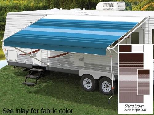 18' Universal Awning Replacement Fabric - Sierra Brown with Weatherguard