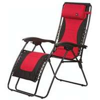 Faulkner 48967 Laguna Style Red/Black Outdoor Recliner - Standard