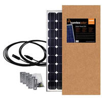 19.6423 - Samlex Solar Panel - 100 Watt - W/Brackets & Wires - Image 1
