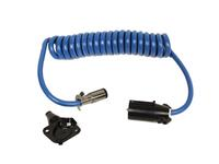 Blue Ox BX88206 Coiled Cable with Female Receptor, 7 to 6 Adapter