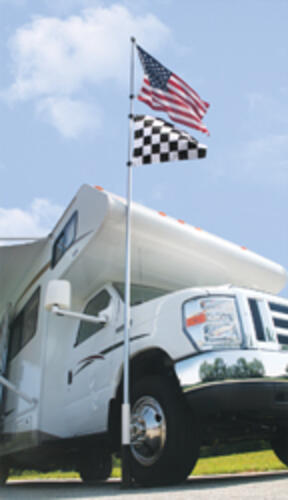 RV Telescoping Fiberglass Flagpole