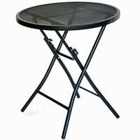 03.0360 - Black Steel Bistro Table - Image 1