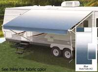 18' Universal Awning Replacement Fabric - Blue Fade with Weatherguard
