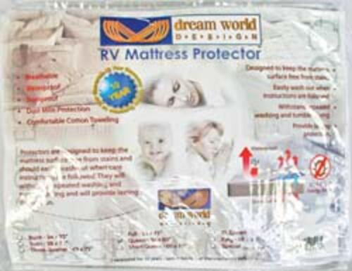 rv bunk terry cotton mattress protector