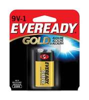 Alkaline Batteries, 9 Volt, 1/card