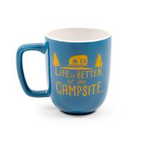 ?Life Is Better At The Campsite Blue Mug