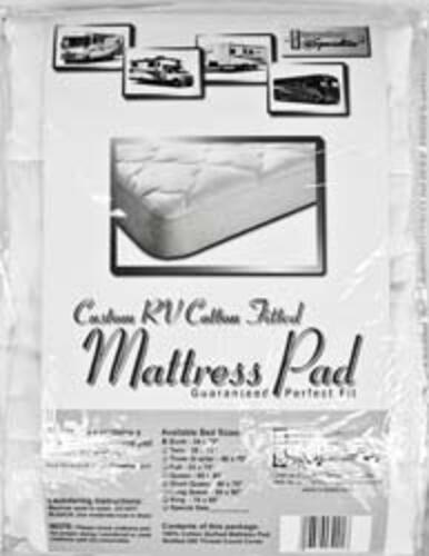 cotton mattress pad white king